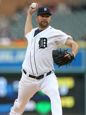 Tigers pitcher Mike Pelfrey.