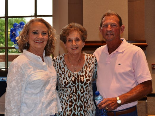 From Left, Cathy Rogers Goodwin, Jean Livingston Knight and Jerry Sanders after decorating the Alabama Activity Center for the Lanier's 50-year Reunion for the Class of 1964.