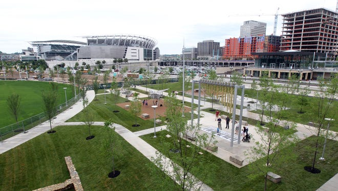 Smale Riverfront Park and other new additions at The Banks have helped make downtown Cincinnati more people-friendly, retired Enquirer opinion writer Robert Clerc says in a guest column.