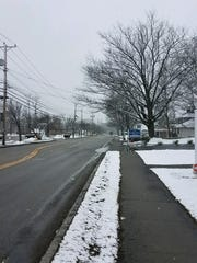 A residential street in the town of Fishkill on Wednesday