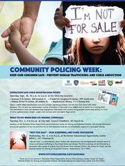 Community Policing Week details.