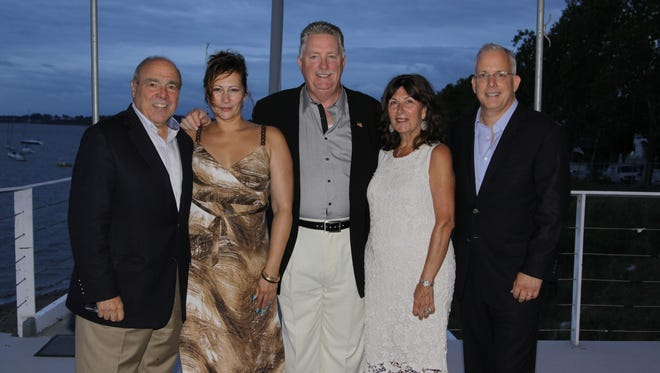 During the kickoff cocktail party is, from left, RBMC President and CEO Michael R. D'Agnes, Michelle Polidura of AristaCare Health Services, Joseph Britton, Rozalia Czaban and Andrew Citron, M.D.  Not pictured is Timothy P. O'Brien, CFP.