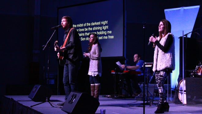 Englewood Baptist Church launched its north campus with two worship services Sunday at Medina Middle School.