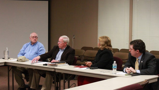 Members of the Jackson-Madison County School Board and the Madison County Commission meet Tuesday.