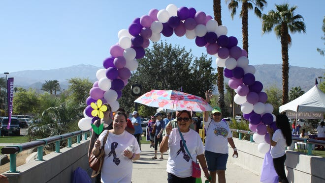 About 200 people participated in the Walk to End Alzheimer's in Palm Desert in February 2016.