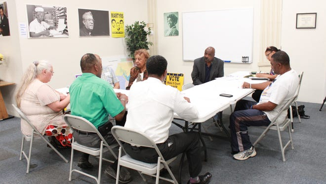 Members of the Jackson community gathered to talk about education Monday at the Jackson-Madison County NAACP office.