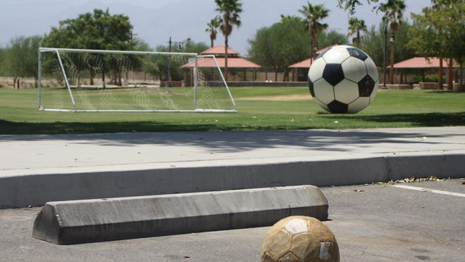 Rancho Las Flores park on Aug. 10, 2016. Coachella has become the soccer hub of the desert, but officials worry their infrastructure is being stressed by outside players.