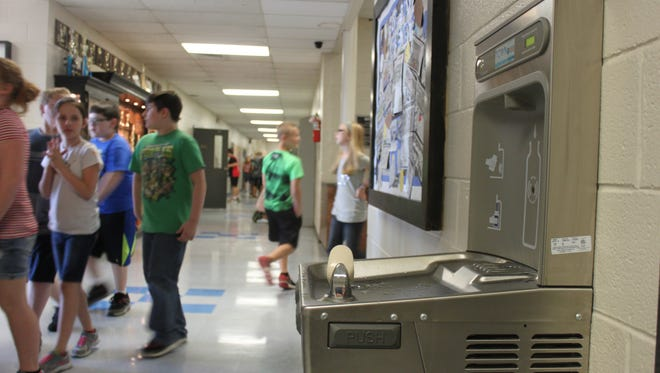 Michie School now has six water fountains as a part of the Sodabriety Project, which encourages students to put away sugary drinks in exchange for water.