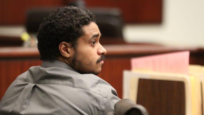 Suspected cop killer John Hernandez Felix sits in a court hearing on Nov. 11.