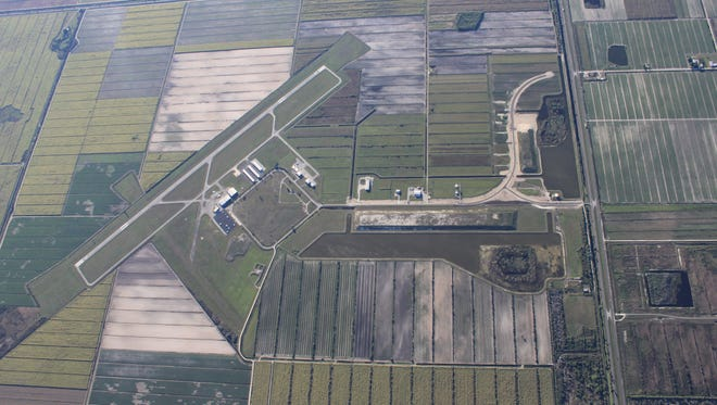 Airglades Airport, as sees from the air. The airport could by 2020 or sooner be home to a massive perishable operation that would attract businesses to fly in flowers, seafood, vegetables and other cargo from South America.