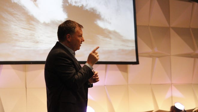 Tim Enochs leads 'Living Forward' workshops for businesses and leaders all across the country. He recently spoke to pastors gathered at Love & Truth Church in Jackson.