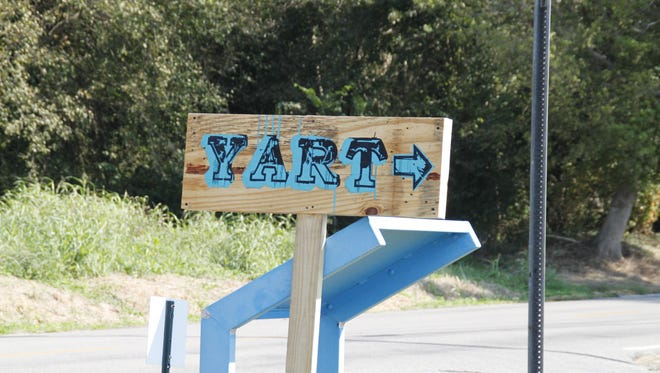 YART sign painted by Gary Logan Hobdy.