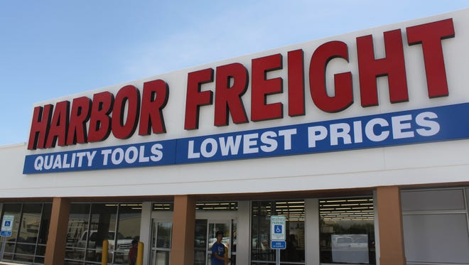 Construction of a Harbor Freight Tool store nears completion to replace Hastings Entertainment Superstore.
