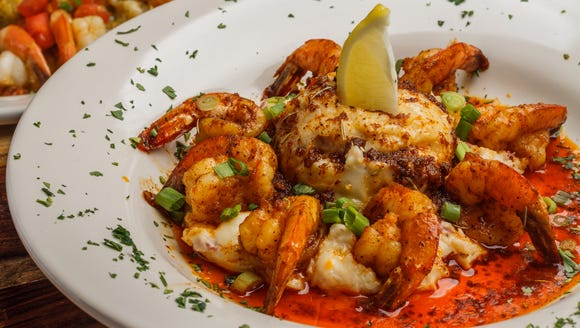 TJ Ribs offers a large menu, including this shrimp