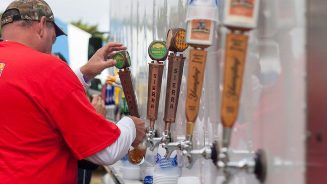Beer will be on sale at Chincoteague's 45th annual Oyster Festival Saturday, Oct. 7, at Tom's Cove Park.