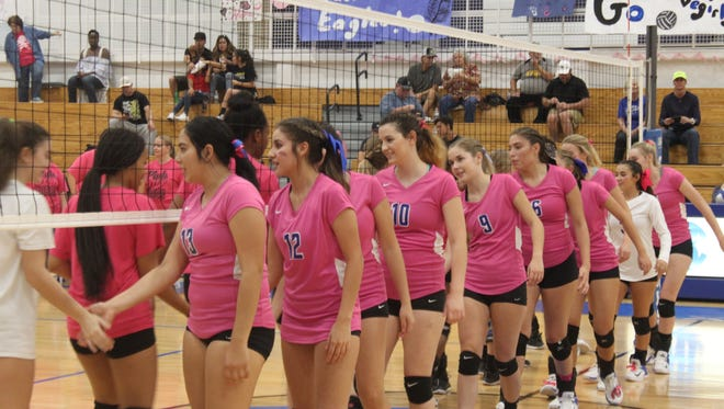 The Cavegirls take on the Hobbs Eagles on Oct. 3 at Carlsbad High School.