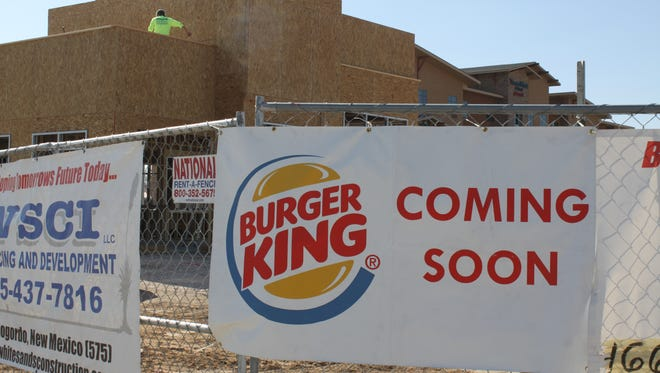 Construction is underway at Carlsbad's new Burger King location, Feb. 7 near the corner of South Canal and Pompa streets.