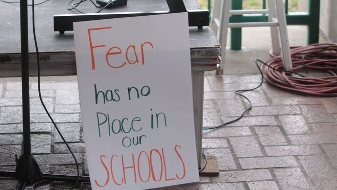 Hundreds came out for Saturday's March for Our Lives as local students discussed the topics of gun control and school safety.