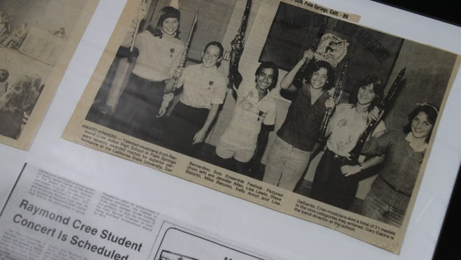 A Desert Sun news clipping from 1981 features members of Raymond Cree Middle School's band.