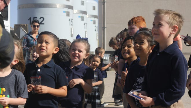Students at St. Edwards Catholic School learn about sustainability and operations at the Waste Isolation Pilot Plant, April 20, 2018 at St. Edwards Catholic School in Carlsbad.