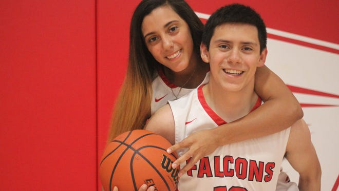 Steven and Alyssa Carrasco both made New Mexico's high school basketball all star game, after their final season with the Loving Falcons.