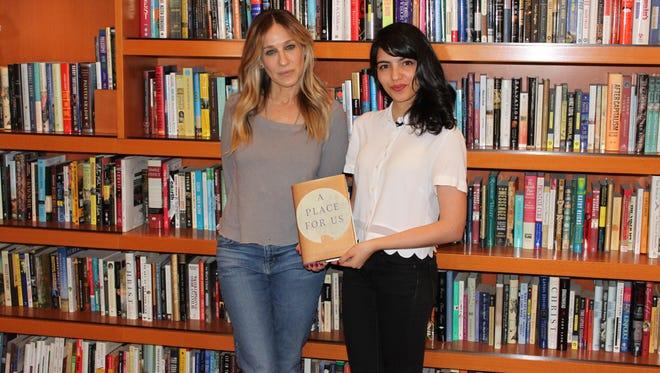 Sarah Jessica Parker and author Fatima Farheen Mirza