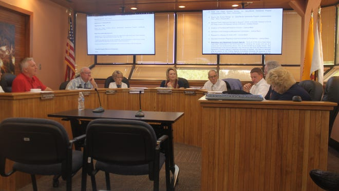 Eddy County Commissioners discuss business Tuesday, July 3, 2018.