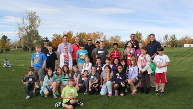Riffenburgh Elementary School students participated in a golf program at the Fort Collins Country Club.