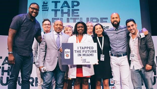 Eunice Cofie, founder of Nueki, a health and beauty company, is a finalist in the Miller Lite Tap The Future Competition. As a finalist, she's already won $20,000 and she could win $200,000 if she's named the overall winner.