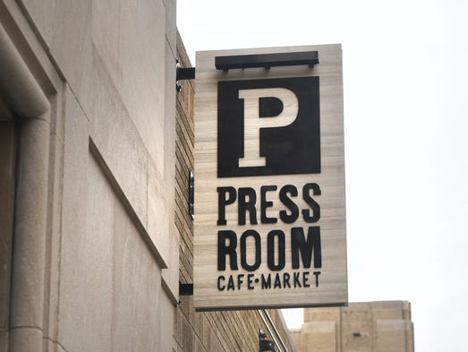 The Press Room Cafe Market opened its doors for business