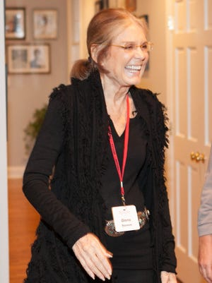 Gloria Steinem during her visit to Rutgers in October 2014.