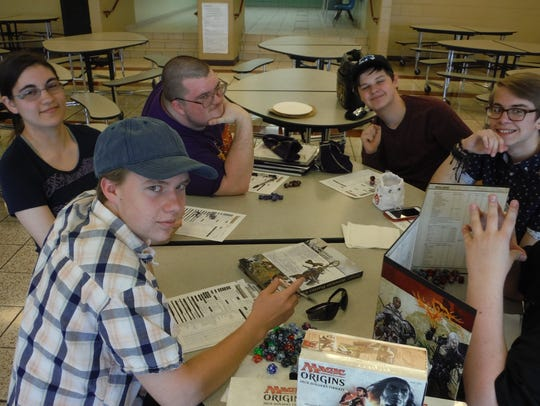 Students gathered May 5 to play games at D.C. Everest