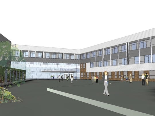 An architect's rendering shows plans for the new CK campus.