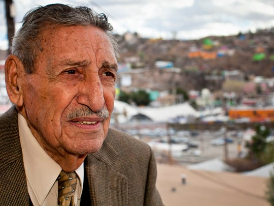 Raul Castro, (CQ) in his home in Nogales, AZ. Castro is Arizona's first, and so far, only Latino governor. He was Governor in the 1970's.