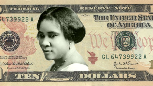 Could Westchester County's own Madame C.J. Walker be the next face of the $10? This photo illustration suggests what that might look like.