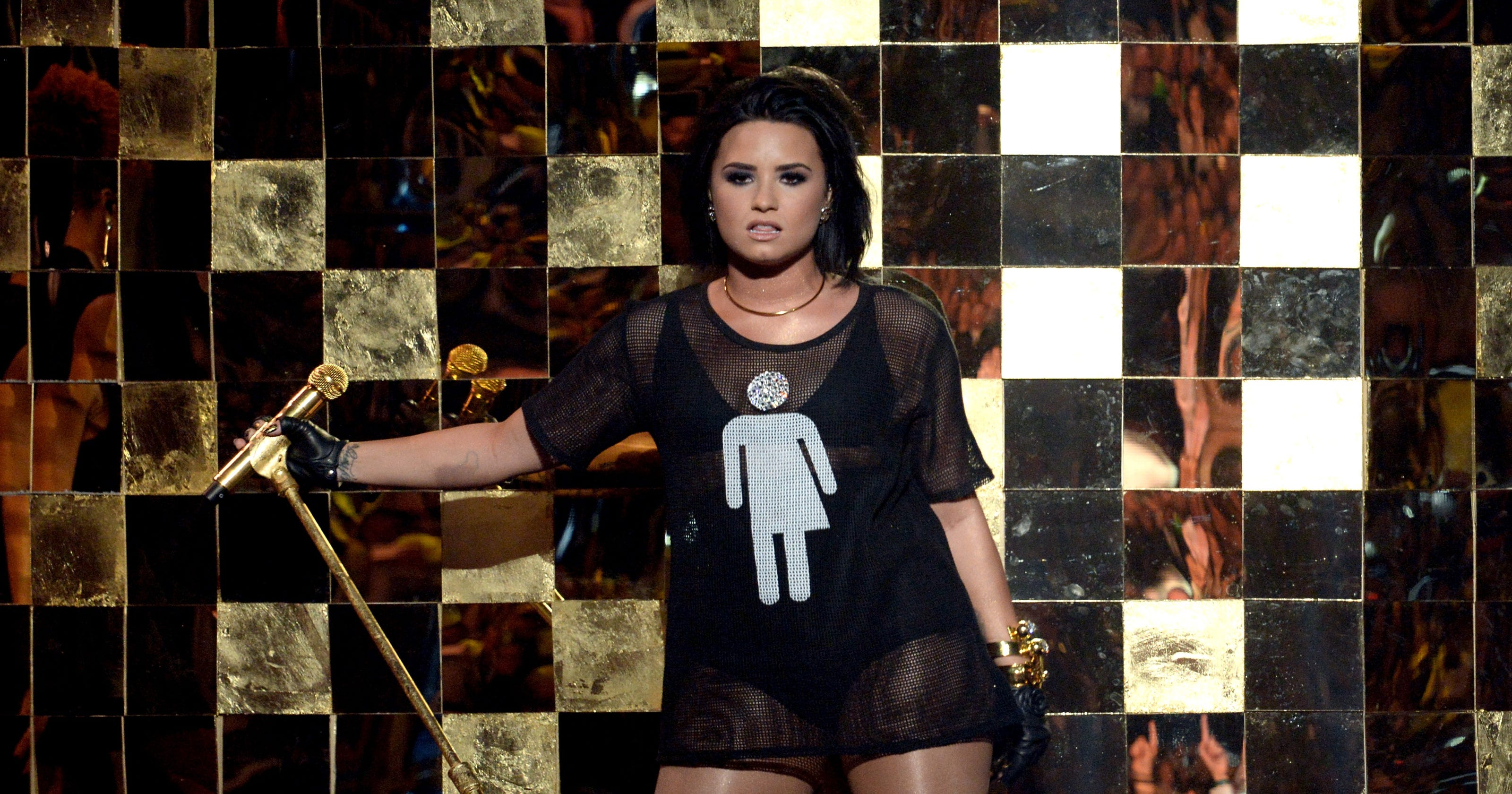 33541a2e7507 Was Demi Lovato s Billboard performance a statement on bathroom laws
