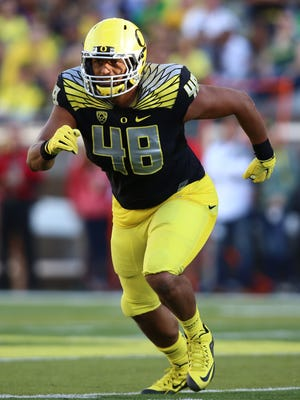 Oregon linebacker Rodney Hardrick is one of the Ducks' best test-takers.