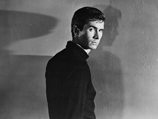"Anthony Perkins in Alfred Hitchcock's ""Psycho."""