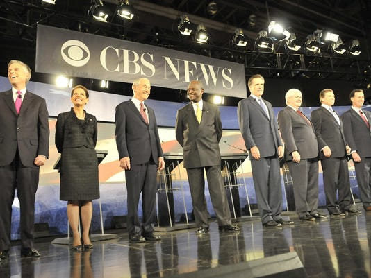 Photo from last CBS debate at Wofford
