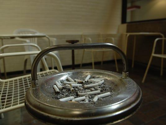 smoking area at City Hall