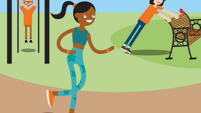 If you can't make it to the gym, try this exercise plan when you and the kids visit the park together.