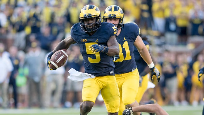Michigan do-it-all star Jabrill Peppers was taken with the 25th overall pick in the NFL draft.