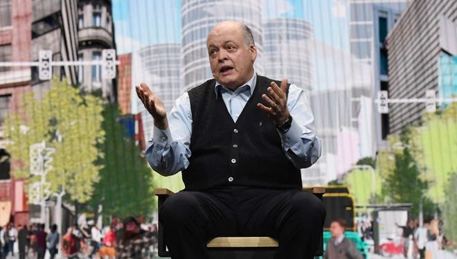 Ford Motor Co. President and CEO Jim Hackett delivers a keynote address at CES 2018 at The Venetian Las Vegas on January 9, 2018 in Las Vegas, Nevada.