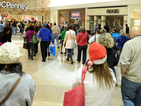 Shoppers pour through West Town Mall in Knoxville for