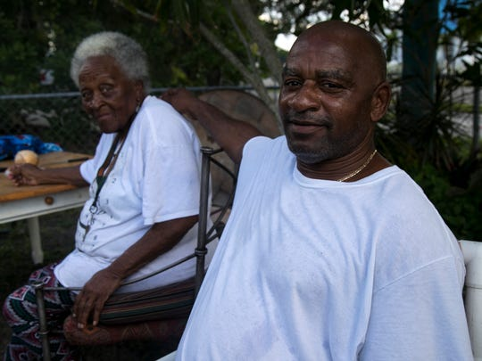 """Annie Freeman and her son Kenny Freeman want answers from the City of Fort Myers regarding the sludge site near Annie's home in Dunbar. """"The people do need to know what they found up there,"""" said Kenny Freeman."""