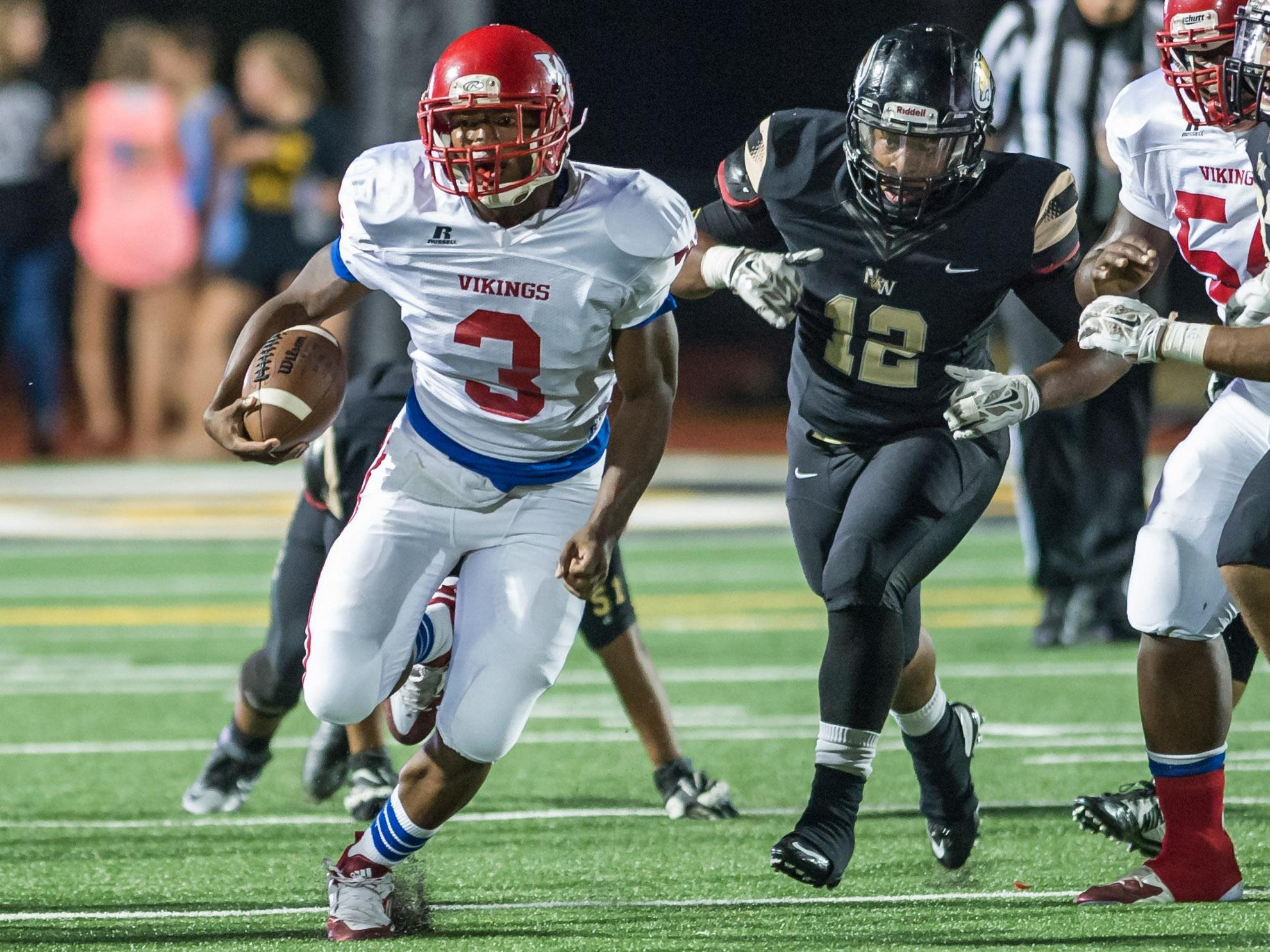 No. 9 Warren Central, which is spearheaded by running back Danarius Knight (3), will face Clinton, which checked in at No. 7 in the Super 10, this week.