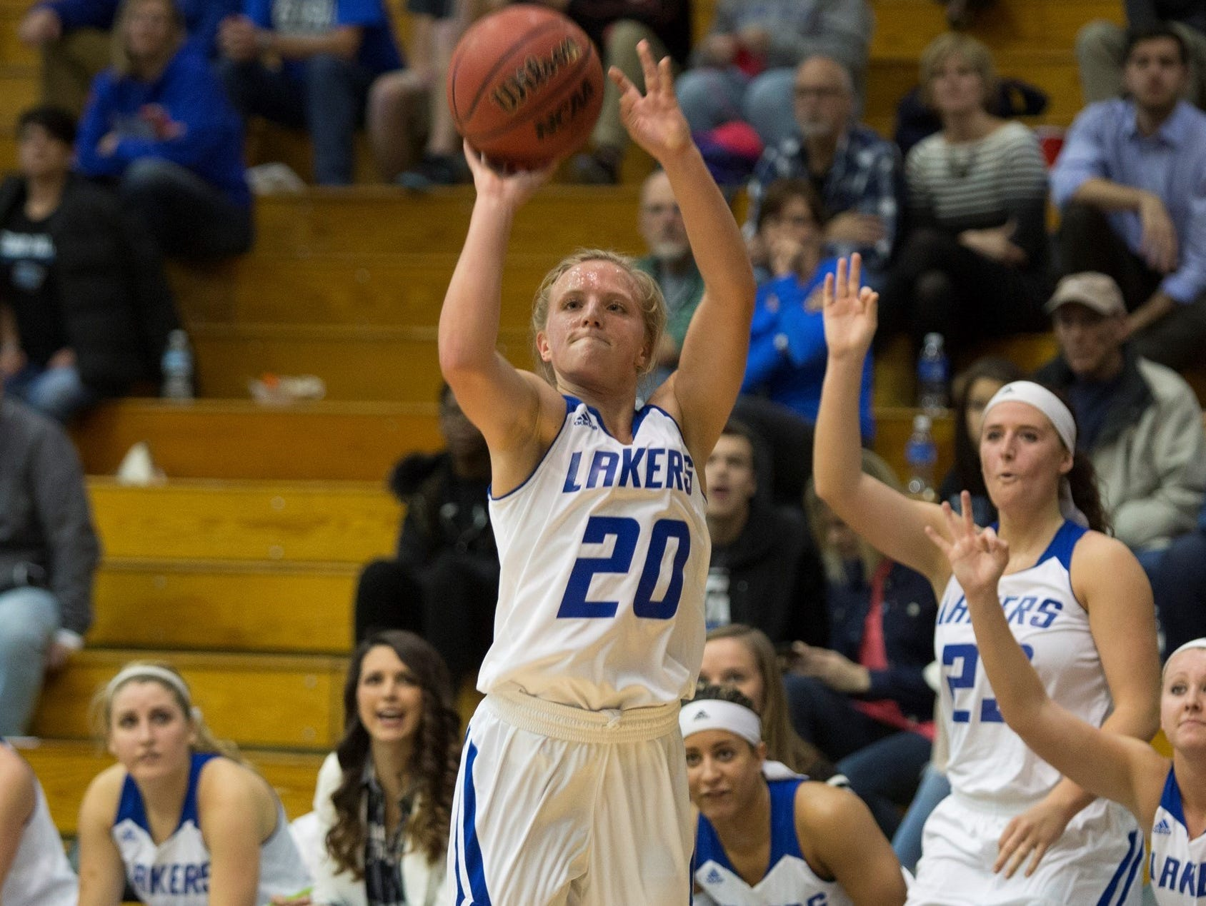 Grand Valley State University junior and Climax-Scotts graduate Janae Langs.