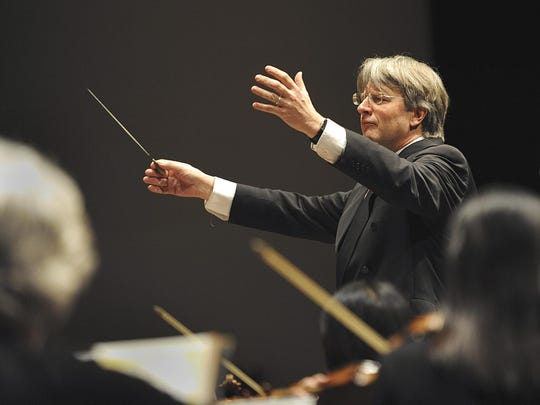 Lansing Symphony Orchestra director Timothy Muffitt will step down as music director of the Baton Rouge Symphony Orchestra, one of three posts he has held simultaneously.