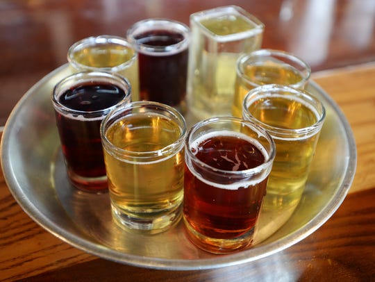 """Scrumpy's serves flights of their own ciders and """"friends"""""""