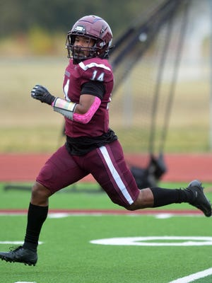 Bethel running back Camryn Harrison finishes off an 85-yard pass reception for a touchdown during play Saturday against Ottawa. Bethel, 6-0, hosts 4-0 Southwestern Saturday.